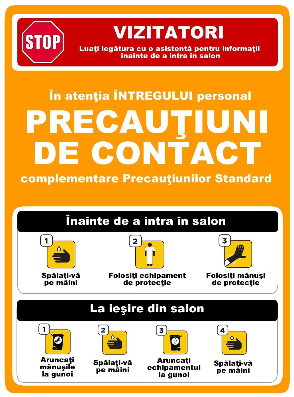 Precautiuni de contact
